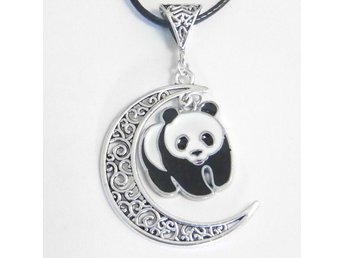 Panda måne halsband / Panda moon necklace