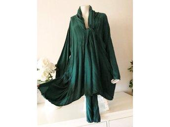 9d6be3d1 Grizas fri frakt siden kimono grön t.. (296672263) ᐈ Tuvstarr2nd på Tradera