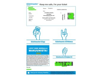 Two tickets for The Killers live in Helsinki 24.07.2018