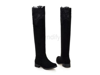 Dam Boots Fashion Autumn Winter Botas Mujer Black 39