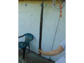 Medieval Viking Period Iron Sword with Stand - 890mm