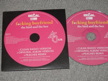 The Bird And The Bee - F*cking Boyfriend CD Singel Promo (pappfodral)