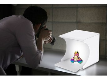 Foto-studio, mini, med LED belysning