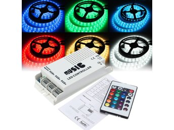 24 Keys RGB LED Strip Music Sound 3 Channel IR Remote Con...