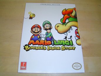 MARIO & LUIGI BOWSERS INSIDE STORY GUIDE WALKTROUGH NINTENDO DS *NYTT*