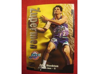 JOHN STOCKTON  - 1997-98 Z-FORCE - UTAH JAZZ - BASKET