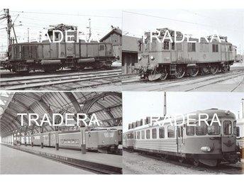 Lok och Tåg 1966 - 1967, serie 9, 12 st fotografier 10x15 cm - Danderyd - Lok och Tåg 1966 - 1967, serie 9, 12 st fotografier 10x15 cm - Danderyd