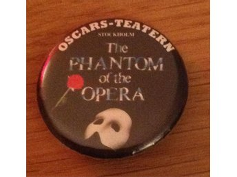 Phantom of the opera brosch Oscars-teatern RARE