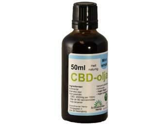 CBD olja Mynta 50 ml, 1000mg CBD