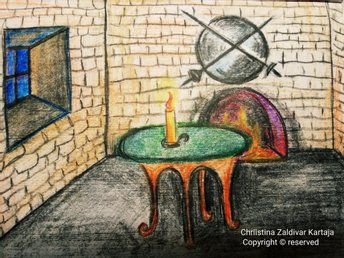 A Castle Room PaintingA4 Watercolor/paper  by Chriistine Sara Zaldivar
