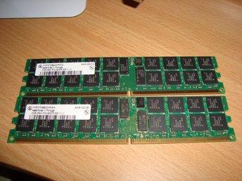Javascript är inaktiverat. - Hisings Backa - 2st identiskt lika minne 2 x 2Gb (totalt 4Gb) PC2-3200R OBS! kolla noga att det är dessa minne Din dator ska ha. Testade, dom fungerar. Fungerar dom inte i Din dator har Du tyvärr köpt fel minne. Ingen retur bara för att Du köpt fel m - Hisings Backa