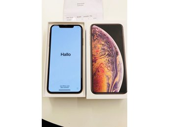 KORT AUKTION!! Iphone XS MAX 64 GB Olåst med kvitto
