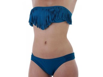 Long Beach Blue - Medium - Populär blå bikini med fransar FRI FRAKT 3435