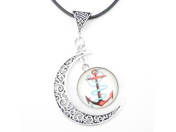 Ankare måne halsband / Anchor moon necklace