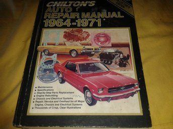 Chiltons auto repair manual 1964-1971 Chilpons bil reparations manual.