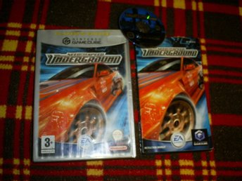 NEED FOR SPEED ,UNDERGROUND,GAMECUBESPEL,KOMPLETT I BEG SKICK