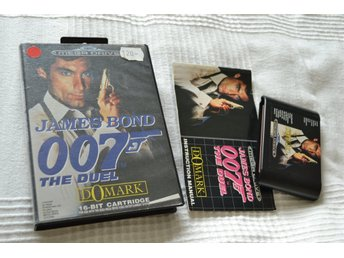 James Bond 007 the Duel Mega Drive SEGA Komplett (Fodral+Kassett+Manual)