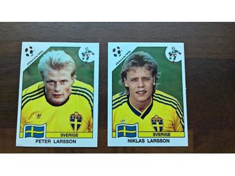 Italy 1990 World Cup Panini stickers Peter Larsson & Niklas Larsson - Salo - Italy 1990 World Cup Panini stickers Peter Larsson & Niklas Larsson - Salo