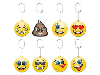 8st Luft Freshener Doftgran Till Bilen Emoticon Bundle Pack