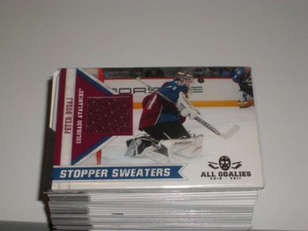 Panini All Goalies 10/11 #16 Stopper Sweaters JERSEY Peter Budaj - Colorado