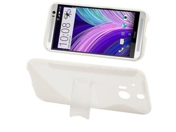 HTC One M8 Transparent S-Line Stativskal Vit