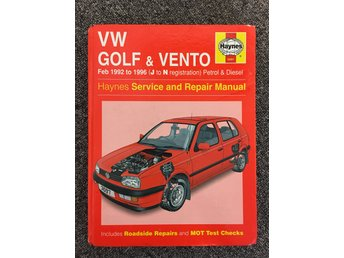 Haynes Reparationshandbok VW Golf, Verkstadshandbok Volkswagen repair manual