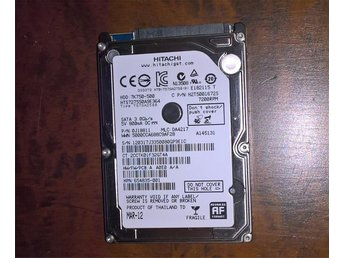 "2,5"" SATA Hitachi 500GB 7200rpm 16MB MAR-12"