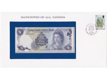 Franklin Mint Banknotes of All Nations Cayman Islands 1 dollar (1971) P-1 UNC