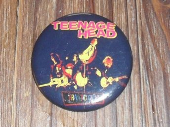 TEENAGE HEAD - Stor Badge / Pin / Knapp (Canada Punk, 1980, Nomads, Cochran,)