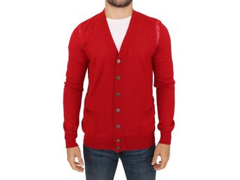 Karl Lagerfeld - Red wool cardigan sweater