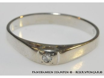 1 söt ring m briljant 0,02 ct vitg 18k 1,8gr Ø 18,5 mm B 2-3 mm , V11043