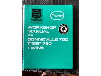 Triumph Workshop Manual for Bonneville 750, Tiger 750 Twins; Pärm med lösblad
