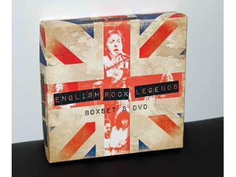 English Rock Legends (Boxset 8 DVD) med bl a QUEEN We Will Rock You. Rare!! NY!