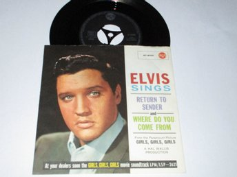 ELVIS PRESLEY SINGEL RETURN TO SENDER