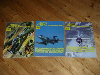 Air International Vol 8 January 1975, Vol 18 USA 1980, Vol 37 December 1989 Flyg