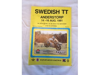 Program från VM i roadracing Anderstorp 14-16 augusti 1981