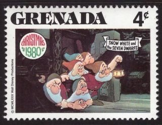 Disney, Grenada, 4-cent, Snow White, Scott 1025