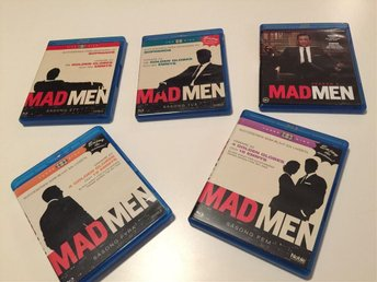 Mad Men blu-ray säsong 1-5