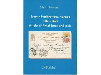 Holmsten: Pricelist of Finnish letters and cards 1889-1960 - Helsingfors, Finland - Holmsten: Pricelist of Finnish letters and cards 1889-1960 - Helsingfors, Finland