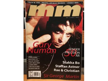 Musikermagasinet MM. Nr. 4, april 2001. Gary Numan m.fl.