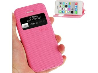 iPhone 5C Flipfodral UFO Denim Rosa