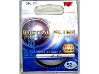 MC UV filter 52mm Kenko Japan Passar Canon, Nikon, Pentax Sony m fl