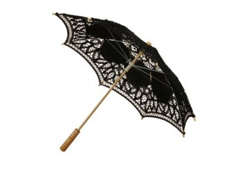 Handmade Cotton Lace Parasol Umbrella And Hand Fan Party ...