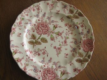 Johnson Bros Rose, Vackra Chintz MAT-TALLRIK 25 cm