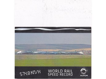 Alstom World Rail Speed Record 2007