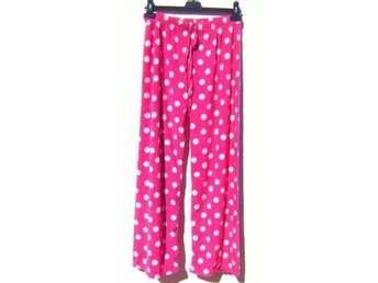 NYst42-44 LUXUÖS NEW LOVELY WARM PINK ROSA PYJAMAS BOTTOMS