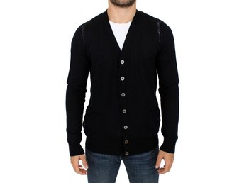 Karl Lagerfeld - Black wool cardigan sweater