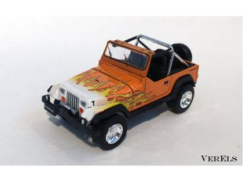 1:64, 1991 Jeep Wrangler, YJ, Greenlight Motor World, ej Hot Wheels