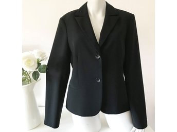 Kello svart kavaj business blazer jacka preppy working girl 40
