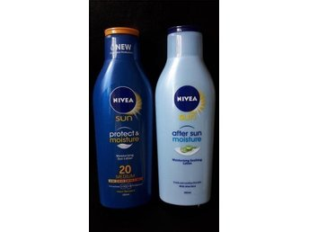 NIVEA SUN Protect & Moisture Moisturising Sun Lotion 20 Medium 200ml rea!!